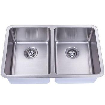 Empire Atlas Stainless Steel Undermount Double Bowl Kitchen Sink