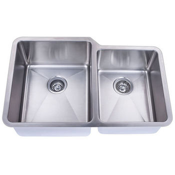 Empire Atlas Stainless Steel Undermount Double Bowl Kitchen Sink with Big Left Bowl