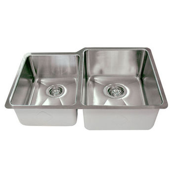 Empire Atlas Stainless Steel Undermount Double Bowl Kitchen Sink with Big Right Bowl