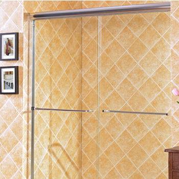 "Empire Majestic 10mm (3/8"") Thick Clear Tempered Glass Traditional Shower Doors Enclosure, Fits Wall Opening: 44"" to 60"""