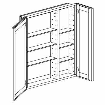 Empire - Broadway Double Door Recessed Medicine Cabinet