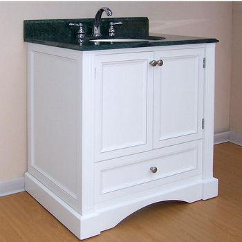 "Empire Newport Collection White Bathroom Vanity 30"" W"