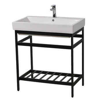 "Empire Industries New South Beach 30"" Bathroom Vanity Console in Black for Milano 30"" Sink Top, 28-7/8"" W x 19-1/8"" D x 31"" H"