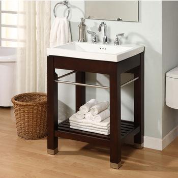 Bathroom Vanities New York 21 Open Shelf Console For