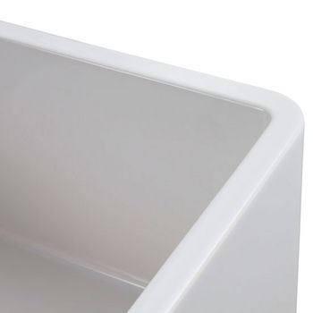 "Empire Industries Olde London 24"" W x 18"" D Reversible Casement Edge Front Fireclay Single Bowl Farmhouse Kitchen Sink in White"