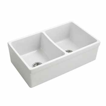 Empire Opera 33'' Farmhouse Double Bowl Kitchen Sink