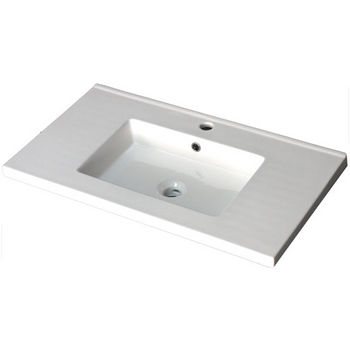 "Empire Industries 30"" Pearl Ceramic Top Sink with Single Hole or 8"" Widespread Drill in White, 30"" W x 18-7/64"" D x 6"" H"
