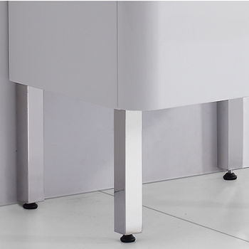 """Empire Industries Royale Collection 10"""" H Bathroom Vanity Legs for Royale Bathroom Vanity in Polished Stainless Steel, Set of 4"""