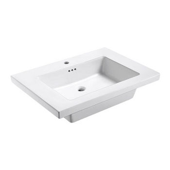 Empire Industries Tribeca 31X22 Ceramic Top Sink in White with 1 Hole Faucet Drill