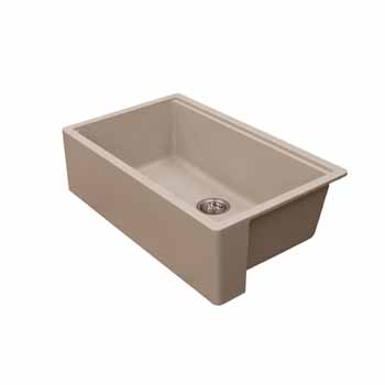 Empire Industries Titan Granite Composite Farmhouse Single Bowl Kitchen Sink, Tan