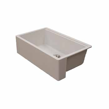 Empire Industries Titan Granite Composite Farmhouse Single Bowl Kitchen Sink, Pearl White