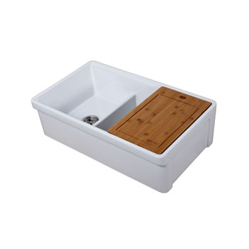 Sink Top View with Cutting Board