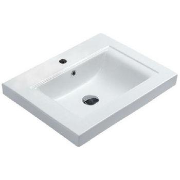 Empire Venice Ceramic Sink in White, 1 Hole
