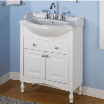 "Empire Windsor 30"" White Bathroom Vanity"