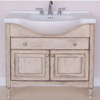 "Empire Windsor 38"" Bathroom Vanity in Antique White"