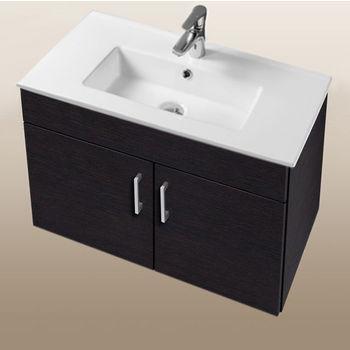 "Empire Industries Daytona Collection 30"" Wall Hung 2-Door Bathroom Vanity in Blackwood with Polished or Satin Hardware"