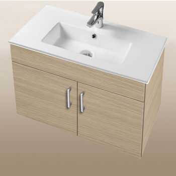 """Empire Industries Daytona Collection 30"""" Wall Hung 2-Door Bathroom Vanity in Pickled Oak with Polished or Satin Hardware"""