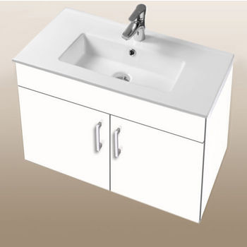 """Empire Industries Daytona Collection 30"""" Wall Hung 2-Door Bathroom Vanity in White Gloss with Polished or Satin Hardware"""