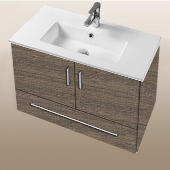 "Empire Industries Daytona Collection 30"" Wall Hung 2-Door/1-Drawer Bathroom Vanity in Bermuda Days with Polished or Satin Hardware"
