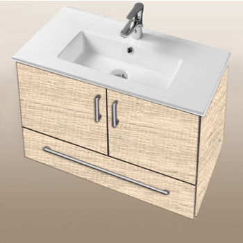 "Empire Industries Daytona Collection 30"" Wall Hung 2-Door/1-Drawer Bathroom Vanity in Moroccan Sand with Polished or Satin Hardware"