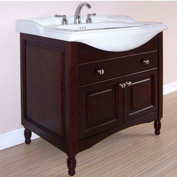 """Empire Windsor 25"""" Extra Deep Solid Wood Bathroom Vanity in Dark Cherry"""