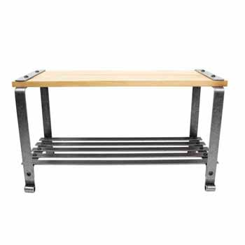 Enclume Premium Collection Craftsman Multi-purpose Bench with Solid Alder Top Hammered Steel, 30''W x 12-1/4''D x 16-1/8''H