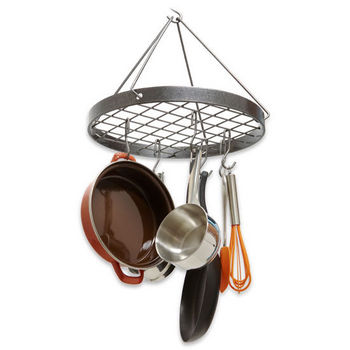 Hanging And Wall Mounted Round Pot Racks In Stainless