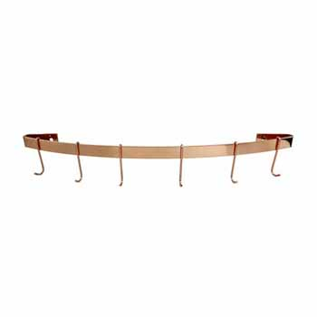 Enclume Décor Collection Curved Wall Rack Utensil Bar Pot Rack in Brushed Copper