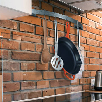 Enclume Décor Collection Bow Utensil Bar Wall Mounted Pot Rack