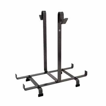 Enclume Premium Collection Fireplace Log Rack Only in Hammered Steel, 24-1/2''W x 20-1/2''D x 26''H