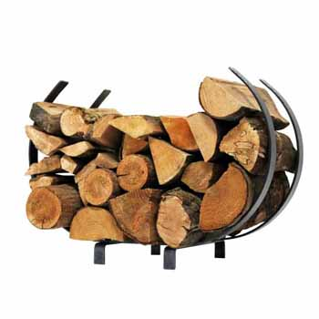 Hammered Steel Log Rack