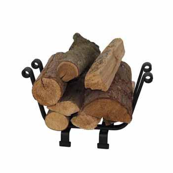 Enclume Premium Collection Indoor/Outdoor Basket Fireplace Log Rack Black, 18''W x 9-1/2''D x 11-1/2''H