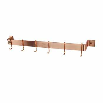 Enclume Premium Collection Easy Mount Wall Rack with 6 Hooks in Brushed Copper