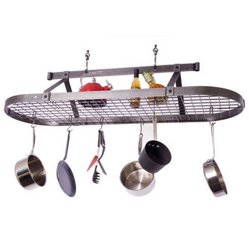 Oval Pot Racks Made Of Stainless Steel Copper Brass Or