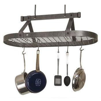 Ceiling Mounted Three Foot Oval Pot Racks PR16A Series