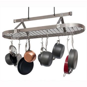 Ceiling Mounted Four Foot Oval Pot Racks PR16C Series