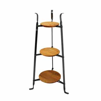 Enclume Premium Collection 3-Tier Designer Stand with Alder Shelves, 17-1/2''W x 15''D x 33-1/2''H