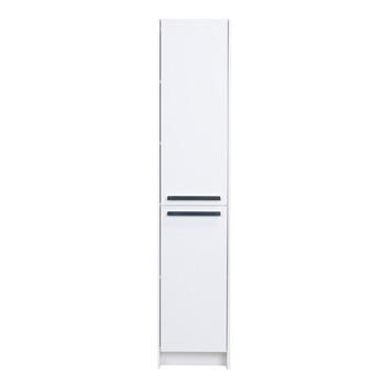 "Eviva Lugano 16"" W White Freestanding Modern Bathroom Linen Side Cabinet, 16"" W x 13"" D x 75"" H"