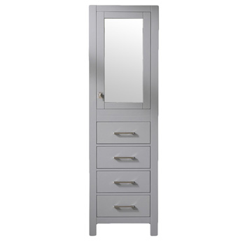 """18"""" W Gray Linen Side Cabinet"""