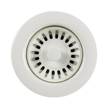 Houzer Color Strainer 3-1/2'' Opening, Polar White Finish