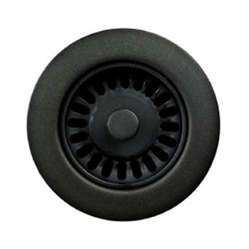 Houzer Color Strainer 3-1/2'' Opening, Matte Black Finish