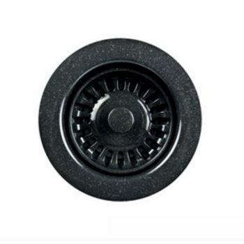 Houzer Color Disposal Flange 3-1/2'' Opening, Speckled Granite Black Finish