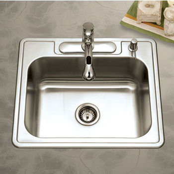 Houzer Glowtone Reflection Series Topmount Single Bowl Sink