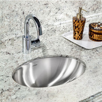 Charming Houzer Opus Series Undermount Lavatory Oval Sink In Stainless Steel