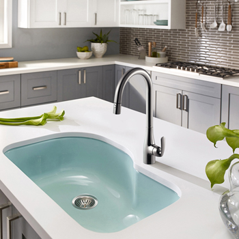 Brushed Nickel Cora Tall Pull Down Faucet