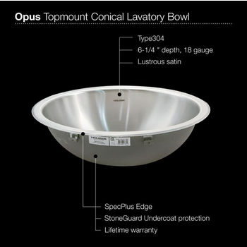 No Overflow Sink Specification