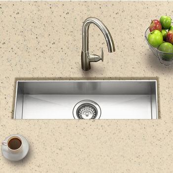 "Houzer - Undermount Sink, 23"" W x 8 1/2"" D x 6"" H"