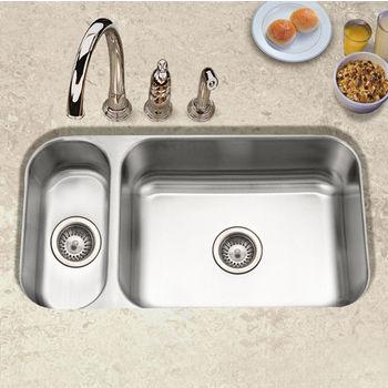 Houzer Elite Series 80/20 Undermount Double Bowl Sink