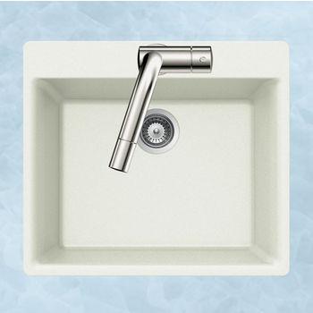 Houzer Quartztone Granite Topmount Single Bowl in Cloud Color, 23-5/8'' W x 20-7/8'' D, 8-11/16'' Bowl Depth