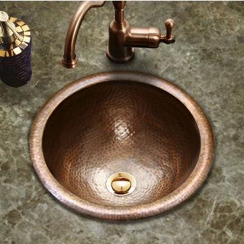 Houzer Hammerwerks Classic Round Lavatory Sink